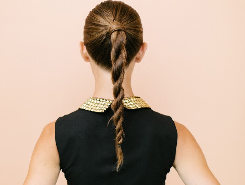 High Twisted Ponytail hairstyle - Godrej Expert